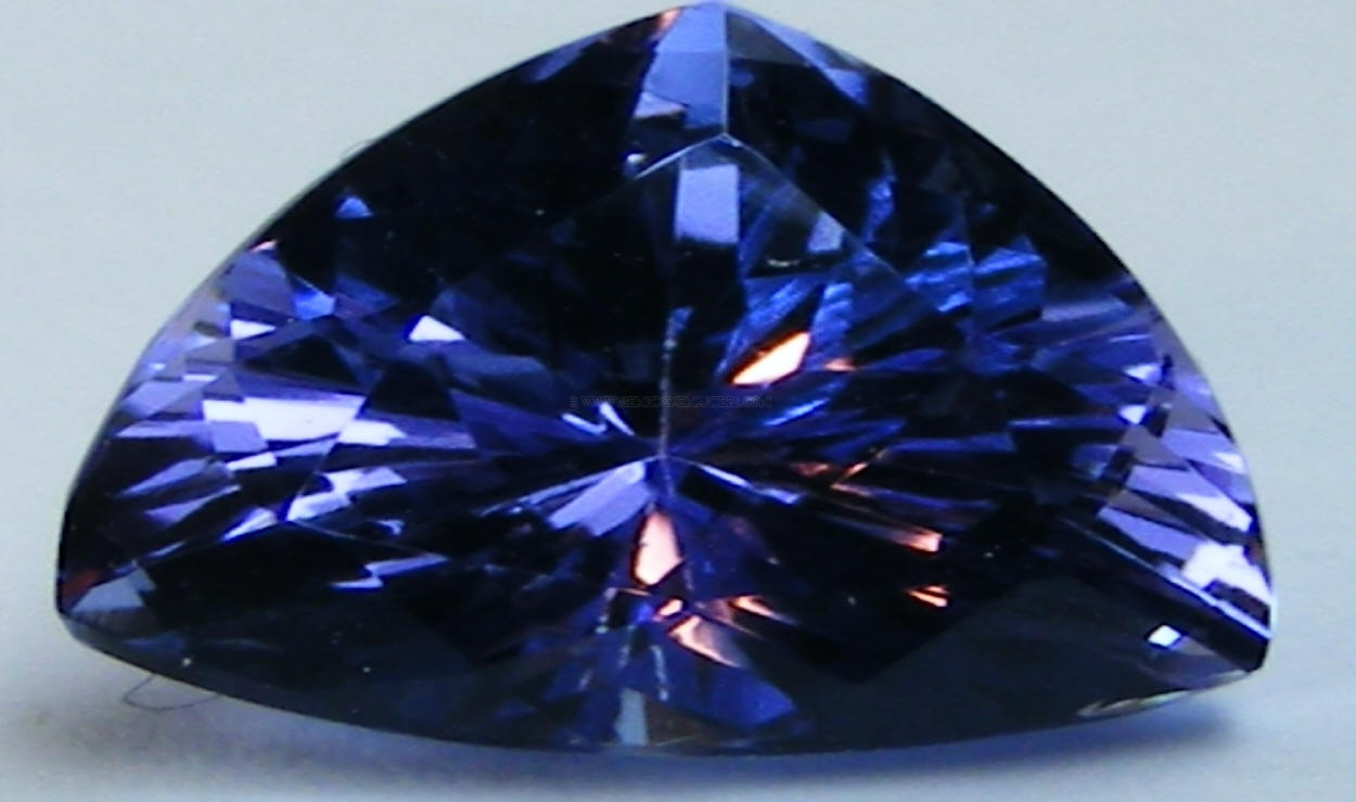 violetish cushion egl gemstone blue loose certified cut itm tanzanite